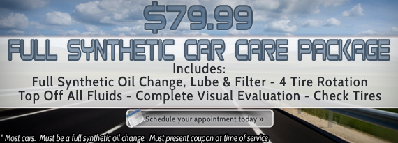 $79.95 Full Synthetic Car Care Package